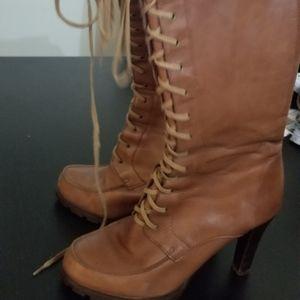 Ralph Lauren lace up boots
